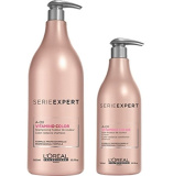 L'Oreal Professionnel Serie Expert Vitamino Colour Shampoo 1500ml Conditioner 750ml and Pumps Bundle NEW 2017