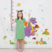 Pakdeevong shop Dinosaur Wall Stickers Growth Chart Height of Parent Temple Wall Children's Room Art for children's room furniture, murals, home decor stickers.