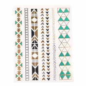 Metalic Gold / Silver Temporary Tattoos, Shimmer Tattoo, Aztec