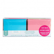 Craft Smith Blank Cards and Envelopes 80 Sets Assorted Solid Colours 4.25x5.5
