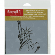 Stencil1 15cm x 15cm Stencil-Statue Of Liberty