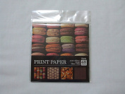 PRINT PAPER, sweets collection 4 design, 150mm × 150mm, 48 Sheets