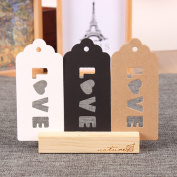 Kraft Paper Christmas Gift Tags with Hanging Hole Wedding Favour Decorative Hang Tags Festival Crafts Supplies Bonbonniere Merchandise Bookmark Love Note 4.7x10cm (1.8x3.9 inch)