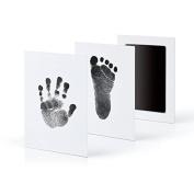 Ularma 2017 Newborn Footprint Handprint Ink Pad Non-Toxic Clean-Touch Pearhead Inkless