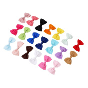Lalang 20pcs Bowknot Baby Hairpins Mini Hair Barrettes Pin For Girls Kids