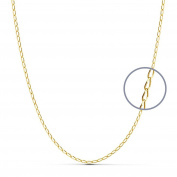 18k gold chain bilbao solid 60 cm. 1.2 mm. 3.30 g. [9465]