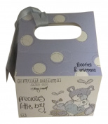 Precious Little Boy Baby Booties And Mittens Set Blue With Matching Gift Bag - Baby Shower Gift