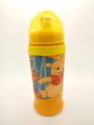 DISNEY Baby Clip & Go Pull Top Slipper Bottle (Yellow Winnie the Pooh & Tigger) BPA FREE