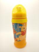 DISNEY Baby Clip & Go Pull Top Slipper Bottle (Yellow Winnie the Pooh & Tigger) BPA FREE