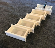 Lot of 4 HDPE Soap Loaf Making Mould and Multi Slot Soap Cutter 0.5-0.9kg per mould