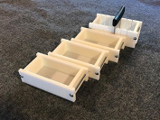 Lot of 3 HDPE Soap Loaf Making Mould and Multi Slot Soap Cutter 0.5-0.9kg per mould