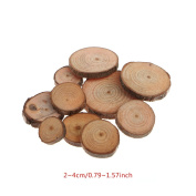 Wood Slices,OHTOP 10Pcs Rustic Natural Round Wood Pine Tree Slices Craft Wedding Centrepiece Decor