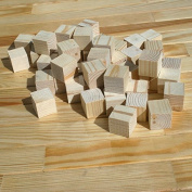 Supla 2.5cm Natural Unfinished Craft Wood Blocks Wood Cubes for DIY Craft Gifts