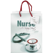 Nurse a Caring Heart Turquoise Medium Tissue Paper and Gift Bags with Handles 6 Pack