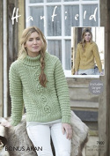 Hayfield Ladies Sweaters Knitting Pattern 7800 Aran