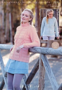 Hayfield Ladies Sweaters Bonus Knitting Pattern 7375 Aran
