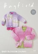 Hayfield Baby Cardigans Blossom Knitting Pattern 4677 Chunky