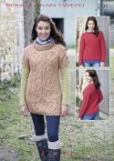 Hayfield Ladies Sweater & Tunic Top Bonus Knitting Pattern 7138 Aran