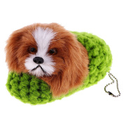 MagiDeal Mini Stuffed Pet Animals Toy Plush Cuddly Toy Slipper Cat Puppy Home Decor Dog Green