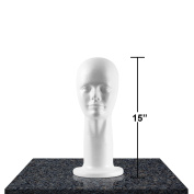 Styrofoam Head Mannequins, Style, Model & Display Women's Wigs, Hats & Hairpieces - Large, 38cm - by Adolfo Designs
