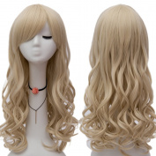 "Netgo Blonde Cosplay Wig 26"" 65cm Long Wavy Fashion Women's Heat Resistanmt Sythetic Halloween Costume Party Princess Wigs ¡­"