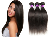 3 Bundle Virgin Straight Hair Human Hair Extension Brazilian Hair Unprocessed Natural Black
