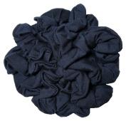 Navy Blue Scrunchie Set, Set of 10 Soft Cotton Scrunchies, Solid Colour Packs