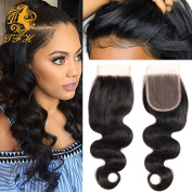 Top Fashion HairBrazilian Body Wave Swiss Lace Closure, Free Part size 4X4 100% Virgin Hair 20cm