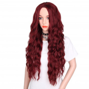 AisiBeauty women synthetic curly wigs natural hair wigs Long wavy Red hair wig Loose deep wave Heat Resistant Fibre Full Wig