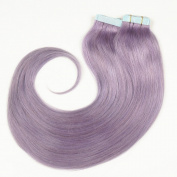 Stella Reina Balayage Hair Dye Pastel Purple Lavender Tape In Hair Extensions 100g/40pcs Light Pink Purple Real Remy Human Hair Straight 50cm