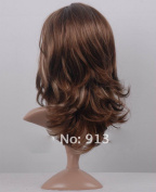 Aukmla Curly Wigs Natural, Heat Resistant and Full Wavy Wigs for Women, High Quality Wig with Free Wig Cap