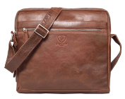 100% Pure Genuine Real Vintage Vegetable Tanned Leather Handmade Mens Womens Leather Flapover Everyday Cross Body Shoulder Work iPad Messenger Bag