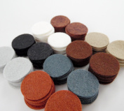 128 Wool Blend Felt 2.5cm Circles - Naturals Colours - Made in USA - OTR Felt