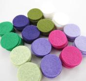 128 Wool Blend Felt 2.5cm Circles - English Garden Colours - Made in USA - OTR Felt