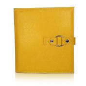 KIT XCHANGE yellow BOOK Vegan Leather for Jewellery Travel Bag Craft Storage Bead Organiser Case Zipper Pouch