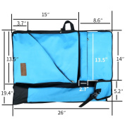 "Artoop Water-resistant Artist Portfolio Tote and Backpack Canvas Bag for Art Supplies Storage and Travelling Size 26""x19.4"" Blue Colour"