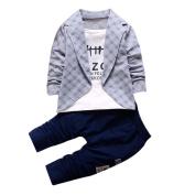 TRENDINAO Infants Boys Clothes Kids Boys Shirt Tops+ Long Pants Outfits Gentleman Set