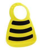 Make My Day Soft Silicone Baby Bib Yellow Bee Size: hassle free packaging Colour