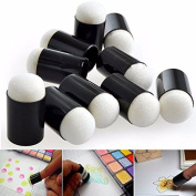 Artlalic Art Tools 10pcs Finger Sponge Daubers Painting Ink Stamping Chalk Reborn Craft