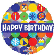 Single Source Party Supplies - 46cm Birthday Sketch Mylar Foil Balloons - Pack of 5
