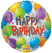 Single Source Party Supplies - 46cm Birthday Silver Mylar Foil Balloons - Pack of 5