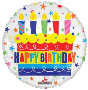 Single Source Party Supplies - 46cm Birthday Cake White Mylar Foil Balloon - Pack of 5