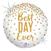 Single Source Party Supplies - 46cm Best Day Ever Glitter Mylar Foil Balloon