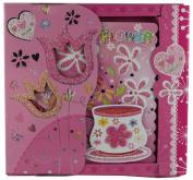 PINK FLOWER SPIRAL BOUND ART NOTE BOOK