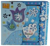 BLUE FLOWER SPIRAL BOUND ART NOTE BOOK