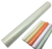 """Easyou Waxed Colour Xuan Paper with Sparled Gold Medium Well for Calligraphy in Regular Seal Clerical Script 40x240cm(15.7""""x94.5"""") 5pcs/roll Antiqued Off White"""