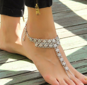 Sexy Bohemian Style Tassel Toe Chain Link Anklet Bracelet for Weddings/Beach Party