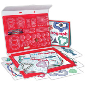 Super Spirograph Art-Work Maker From The 1960's w/ Red Storage Carrying Case