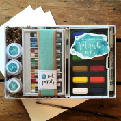 "DIY Watercolour Kit for Beginners - Includes Project Guides & Detailed Instructions - Wildflower Art Studio's Signature ""Watercolour Class in a Box"""