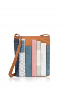 Ladies Soft Leather Yoshi Bookworm Across Body Bag library in Tan